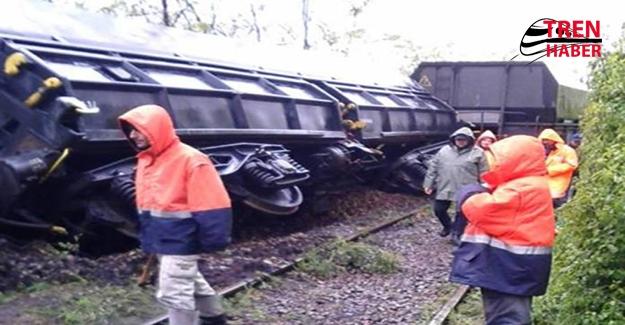 Kömür Vagonları Raydan Çıktı