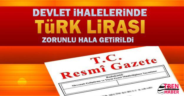 Devlet ihalelerinde Türk Lirası zorunluluğu