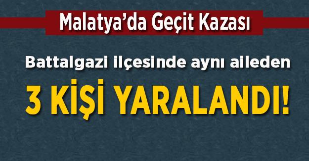 Malatya'da hemzemin geçitte kaza! 3 yaralı