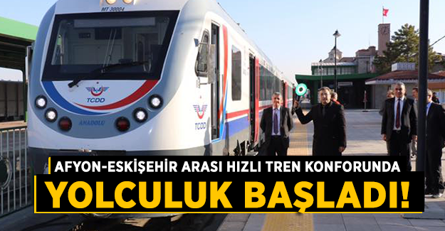Afyon-Eskişehir arası yeni DMU setleri sefere başladı!