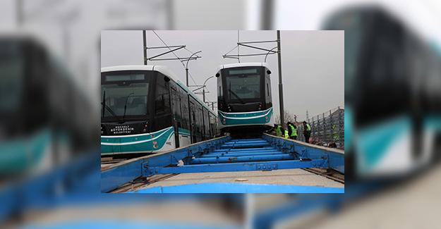 Akçaray'ın üçüncü tramvayı şehre geldi