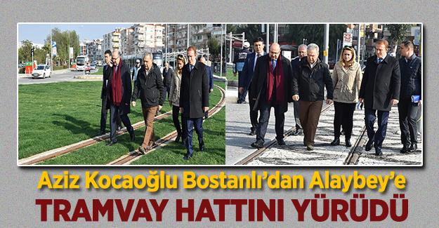 Aziz Kocaoğlu Bostanlı'dan Alaybey'e Tramvay Hattını Yürüdü