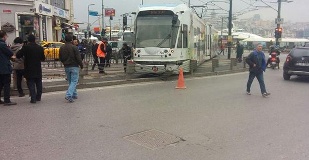 Kabataş-Bağcılar Tramvayı Raydan Çıktı