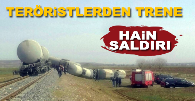 Diyarbakırda Teröristlerden Trene Hain Saldırı!