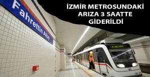 İzmir Metrosu'nda Arıza 3 Saatte Giderildi
