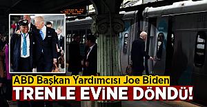 ABD Başkan Yardımcısı Joe Biden trenle eve döndü!