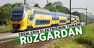 Trenlerin elektriğinin tamamı rüzgardan! İşte O Ülke..