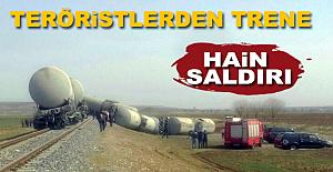 Diyarbakırda Teröristlerden Trene...