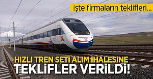 Hızlı Tren seti alım ihalesinde teklifler verildi! Katılan firmalar ve teklifleri..