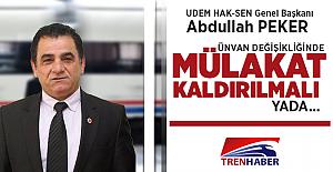 """Abdullah Peker: """"Ünvan değişikliğinde mülakat kaldırılmalı yada..."""""""