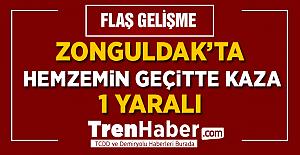 Zonguldak'ta Hemzemin Geçitte Kaza! 1 Yaralı