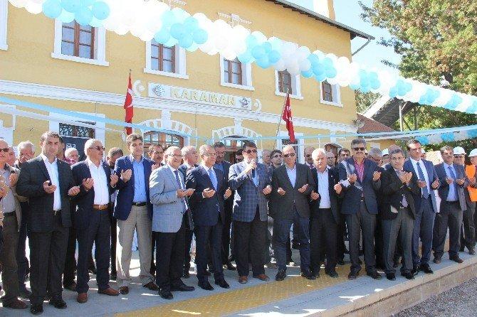 Karaman - Konya Hızlı Tren Hattının Elektrifikasyon Sisteminin Temel Atıldı
