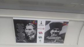 """İzmir Metrosunun """"hayal vagonu"""" seferde"""