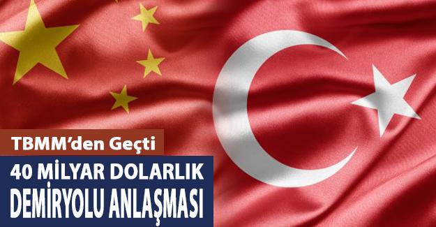 Türkiye ile Çin Arasında 40 Milyar Dolarlık Demiryolu İş Birliği Anlaşması