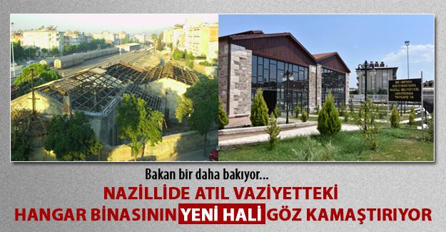 Nazilli Gar'da atıl vaziyette bulunan hangar binası Hangar Kafe olarak açılıyor