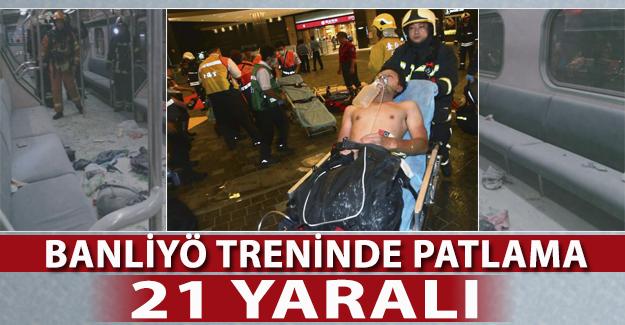 Banliyö Treninde Patlama 21 Yaralı