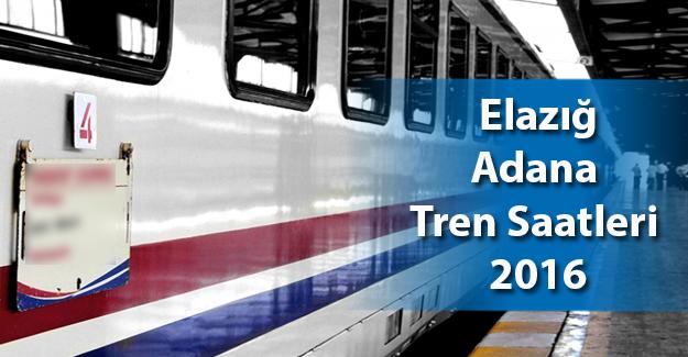 Adana - Elazığ Tren Saatleri 2017 Güncel
