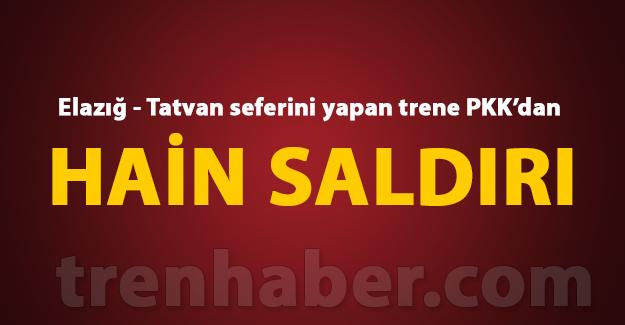 Elazığ - Tatvan seferini yapan trene PKK'dan hain saldırı tcdd haberleri