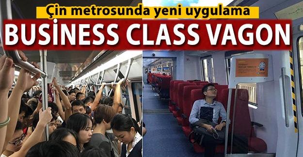 """Çin metrosunda yeni uygulama """"Business Class Vagon"""""""