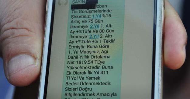 İZBAN'dan grevdeki personele SMS