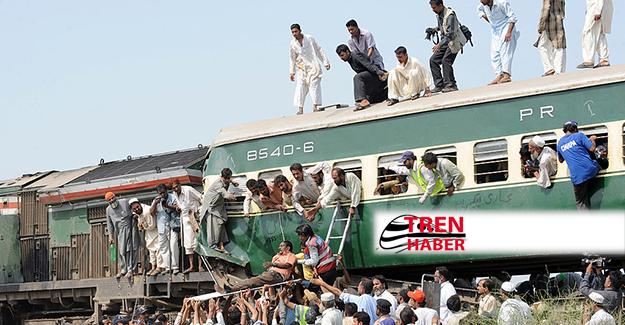 Pakistan Karaçi'de tren kazası: 17 ölü 50 yaralı