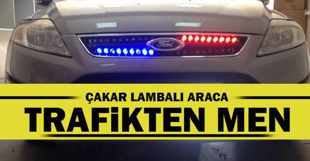 Çakar lambaya trafikten men cezası!