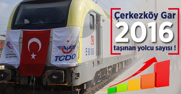 Çerkezköy Gar 2016 yılı taşınan yolcu sayısını açıkladı