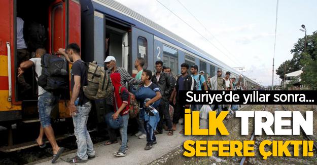Suriye'de yıllar sonra ilk tren sefere çıktı!