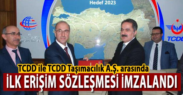 TCDD ile Taşımacılık A.Ş. arasında ilk erişim sözleşmesi imzalandı!