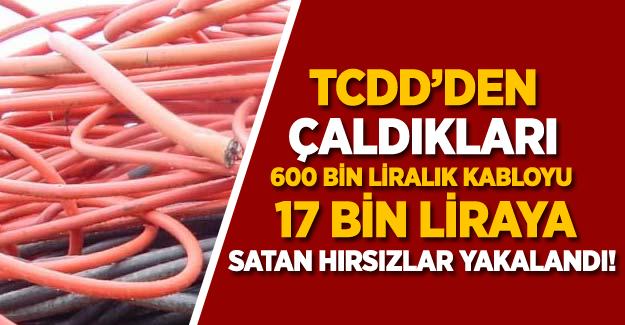 TCDD'den çaldıkları 600 bin liralık kabloyu 17 bin liraya satan hırsızlar yakalandı