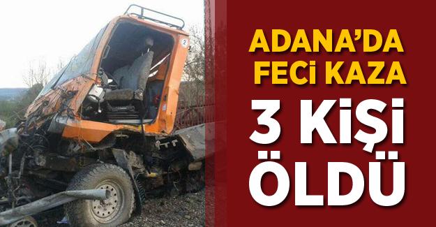 Adana'da Demiryolu İş Makinası Kazası! 3 Ölü