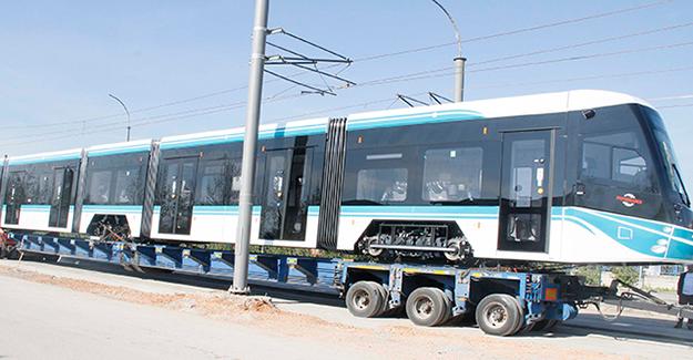 Akçaray'ın beşinci tramvayı şehre geldi