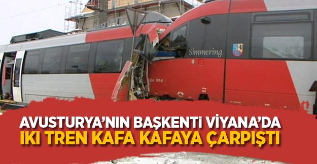 Avusturya'da iki tren kafa kafaya çarpıştı