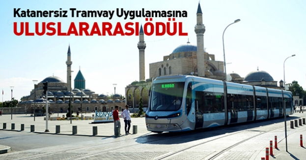 Konya tramvayına uluslararası ödül