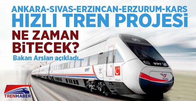 Ankara-Sivas-Erzincan-Erzurum-Kars Yüksek Hızlı Tren Projesi Ne Zaman Açılacak!