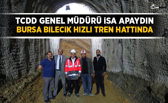 Apaydın Bursa-Bilecik hızlı tren hattındaki çalışmaları inceledi