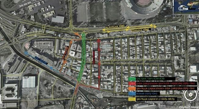 İzmir'de yeni metro araçları için geçici trafik düzenlemesi