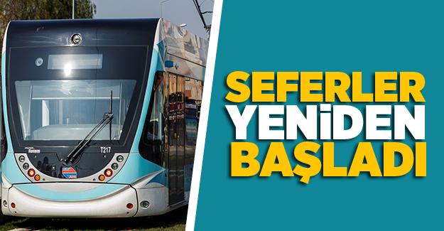 Karşıyaka Tramvayı'nda seferler yeniden başladı