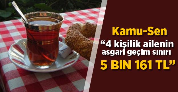 Türkiye Kamu-Sen:  Dört kişilik bir ailenin asgari geçim sınırı  5.161 lira