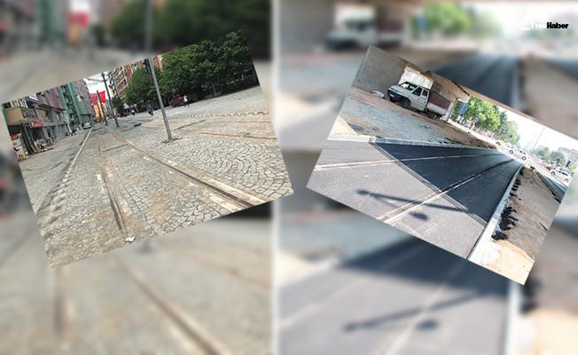 Akçaray hattı beton, asfalt ve parke ile kaplanıyor