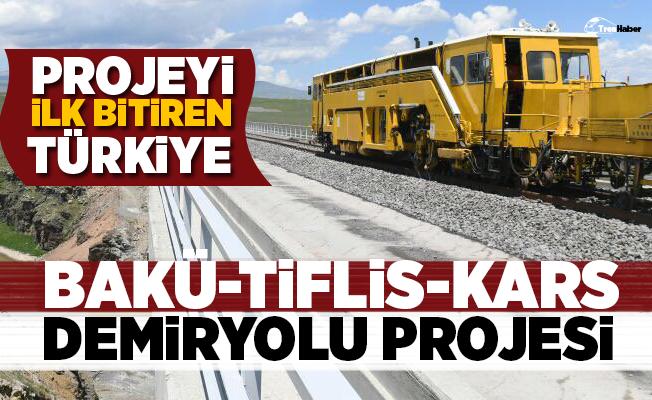 Bakü-Tiflis-Kars Demiryolu Projesi'ni ilk bitiren ülke Türkiye olacak