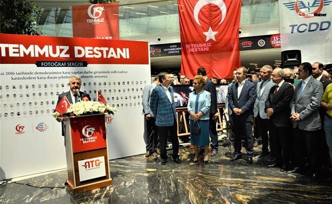 15 Temmuz Destanı Fotoğraf Sergisi Ankara Tren Garında Açıldı
