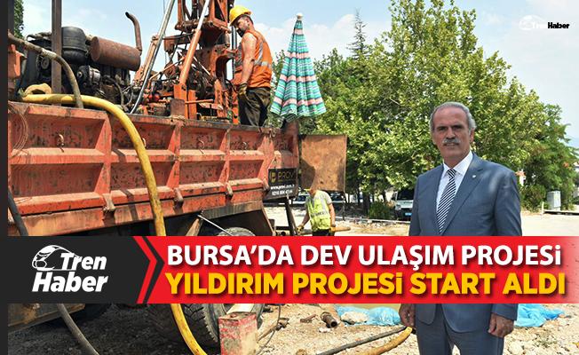 Bursa'da Yıldırım metrosu start aldı
