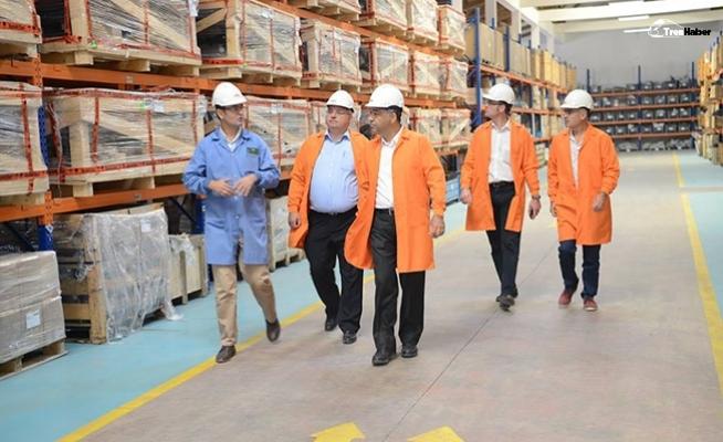 Sivas'a yatırım yapmak için gelen WABTEC Tüdemsaş'ı ziyaret etti