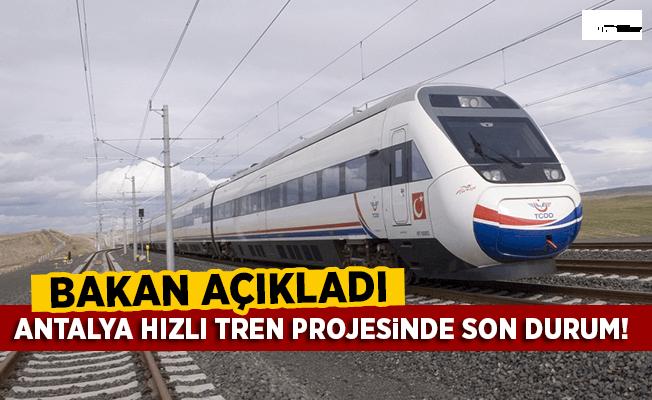 Antalya Hızlı Tren Projesinde Son Durum!