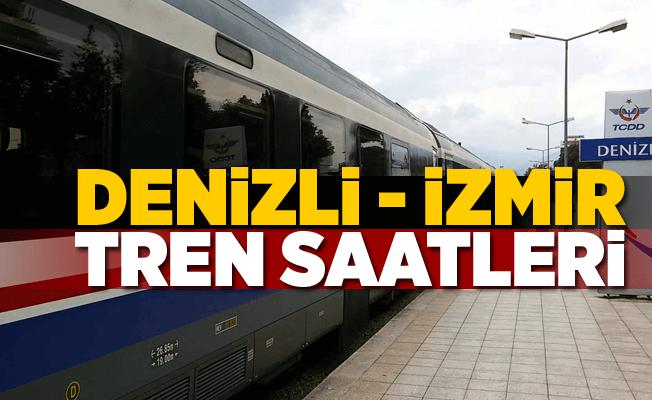 Denizli İzmir  Tren Saatleri 2020