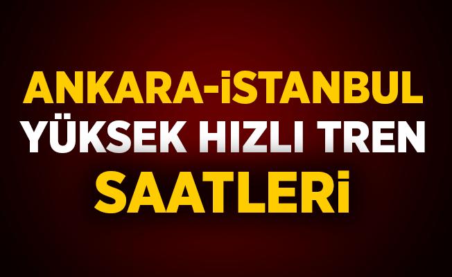 Ankara İstanbul Yüksek Hızlı Tren Saatleri 2019