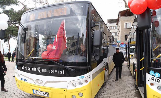 Bursa Gemlik hattında 14 otobüs yenilendi