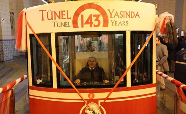 Türkiye'nin ilk metrosu tarihi Karaköy Tüneli 143 yaşında