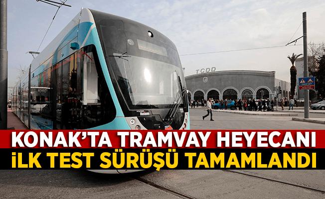 Konak tramvayı ilk test sürüşünü başarıyla tamamladı